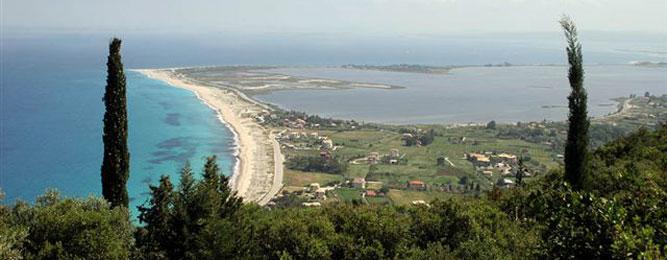 View to Ai Yianni Beach