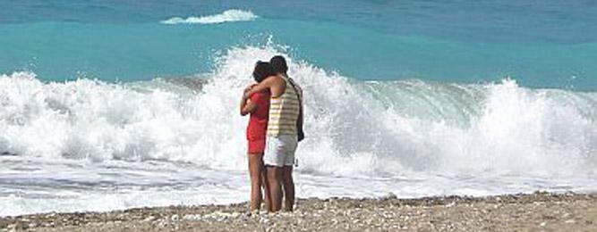 Moment romantique à la mer